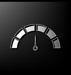 Speedometer sign gray 3d vector