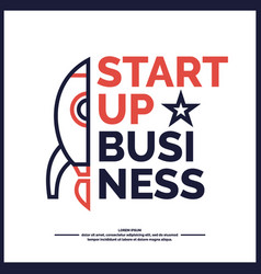 start up income and success business vector image