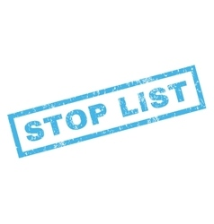 Stop list rubber stamp vector