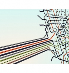 subway network vector image vector image