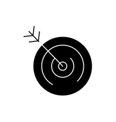 target icon black sign on vector image