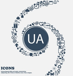 Ukraine sign icon symbol ua navigation in the vector