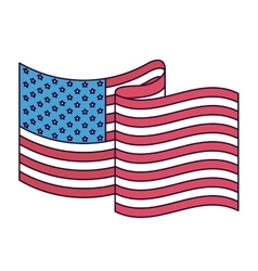 united states flag isolated icon design vector image vector image