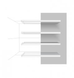 vector shelves vector image vector image