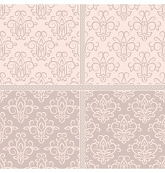 Vintage pastel creamy seamless pattern vector image