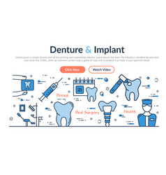 Web site header - denture and implant vector