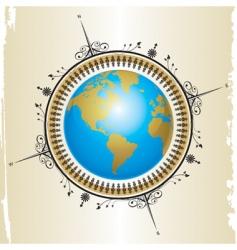 compass globe vector image