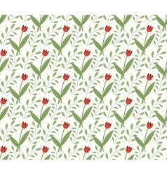 Floral seamless pattern flowers repeating texture vector