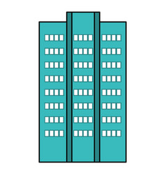 Building exterior isolated icon vector