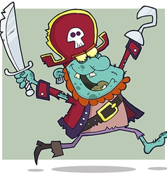 Pirate Zombie With A Cutlass vector image