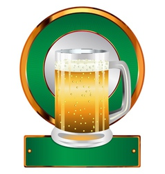 Label with beer glass2 vector