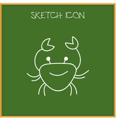 Of animal symbol on crab vector