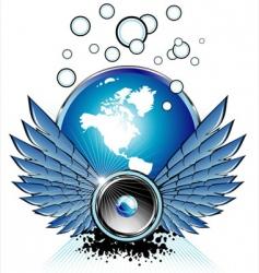 flying speaker vector image