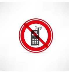 Phone use is prohibited icon vector