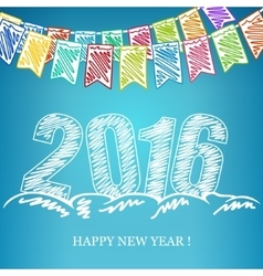 2016 new year eve background vector