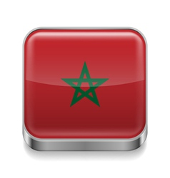 Metal icon of morocco vector