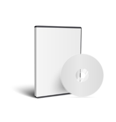 Realistic case for dvd or cd disk with disk vector