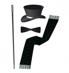 Gentleman accessories vector