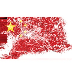 Flag of china with old texture vector