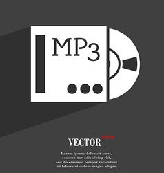 Mp3 player icon symbol flat modern web design with vector