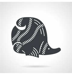 Black icon for butterflyfish vector