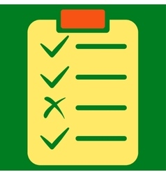 Task list icon from commerce set vector