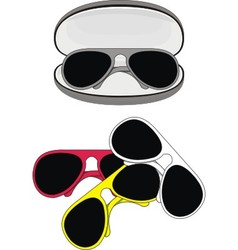 fashionable sunglasses vector image