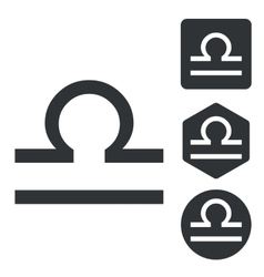 Libra icon set monochrome vector