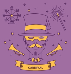 MAGICIAN CARNIVAL COSTUME OUTFIT vector image