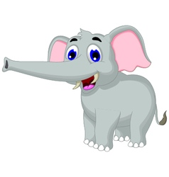 Funny elephant cartoon posing for you design vector