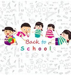 back to school sketches vector image vector image