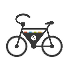 Bicycle ecology vehicle isolated icon vector