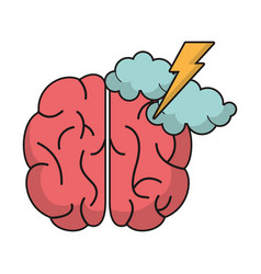 brain idea brianstorm innovation vector image