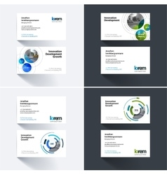Business card template with rounds circles vector