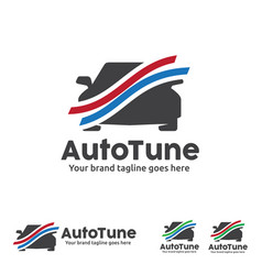 car graph logo automobile analysis car tune vector image vector image