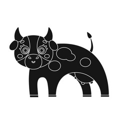 Cow single icon in black stylecow symbol vector
