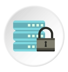 Data retention protection icon flat style vector