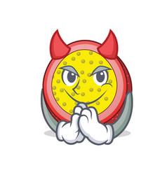 Devil passion fruit mascot cartoon vector