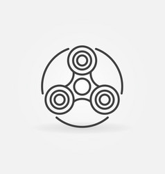 fidget spinner outline icon vector image vector image