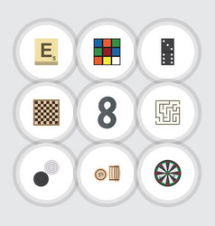 Flat icon entertainment set of bones game arrow vector