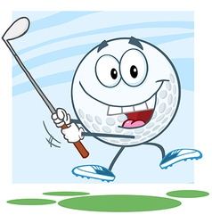 Golf ball man with legs vector image vector image