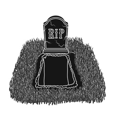 Grave icon in black style isolated on white vector