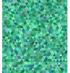 Green triangle mosaic background design vector