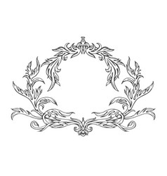 Hand drawn intage frame pattern vector