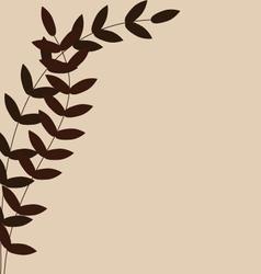 Leave pattern design for background vector