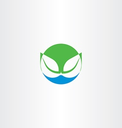 Leaves and water bio natural icon symbol vector