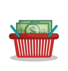 Online shopping e-commerce basket isolated vector