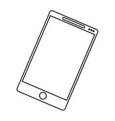 Smartphone mobile communication technology outline vector