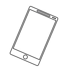 smartphone mobile communication technology outline vector image