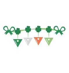 st patricks day clover pennant decorative vector image